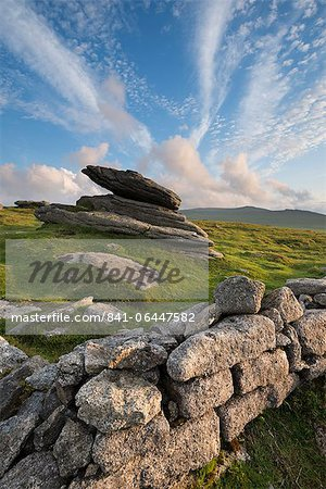 Summer at Irishman's Wall on Belstone Ridge, Dartmoor, Devon, England, United Kingdom, Europe Stock Photo - Rights-Managed, Image code: 841-06447582