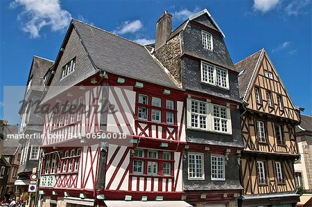 Medieval half timbered houses, old town, Morlaix, Finistere, Brittany, France, Europe Stock Photo - Rights-Managed, Image code: 841-06500018