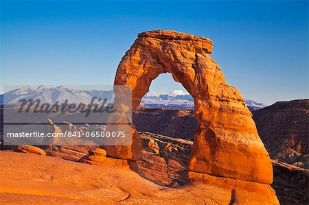 Delicate Arch, Arches National Park, near Moab, Utah, United States of America, North America Stock Photo - Rights-Managed, Image code: 841-06500075