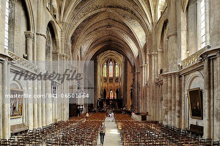 Interior of Cathedrale Saint Andre (St. Andrews Cathedral), Bordeaux, UNESCO World Heritage Site, Gironde, Aquitaine, France, Europe Stock Photo - Rights-Managed, Image code: 841-06501064