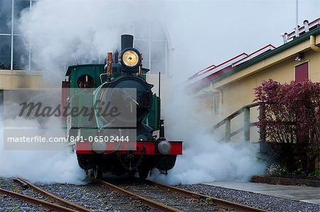 Old steam train, Queenstown, Tasmania, Australia, Pacific Stock Photo - Rights-Managed, Image code: 841-06502444