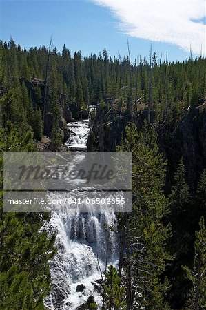 Kepler Cascades, Yellowstone National Park, UNESCO World Heritage Site, Wyoming, United States of America, North America Stock Photo - Rights-Managed, Image code: 841-06502655