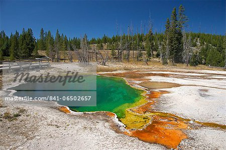 Abyss Pool, West Thumb Geyser Basin, Yellowstone National Park, UNESCO World Heritage Site, Wyoming, United States of America, North America Stock Photo - Rights-Managed, Image code: 841-06502657