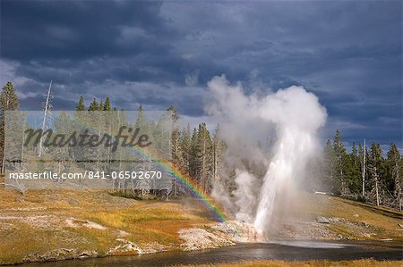 Riverside Geyser, Upper Geyser Basin, Yellowstone National Park, UNESCO World Heritage Site, Wyoming, United States of America, North America Stock Photo - Rights-Managed, Image code: 841-06502670