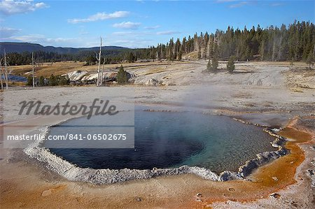 Crested Pool, Upper Geyser Basin, Yellowstone National Park, UNESCO World Heritage Site, Wyoming, United States of America, North America Stock Photo - Rights-Managed, Image code: 841-06502675