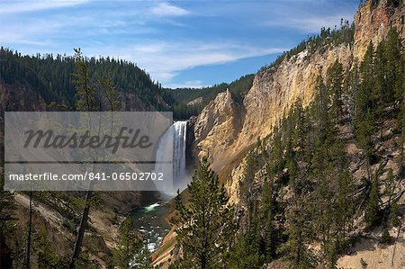 View of Lower Falls from Red Rock Point, Grand Canyon of the Yellowstone River, Yellowstone National Park, UNESCO World Heritage Site, Wyoming, United States of America, North America Stock Photo - Rights-Managed, Image code: 841-06502702