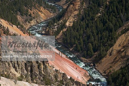 Grand Canyon of the Yellowstone River, from Inspiration Point, Yellowstone National Park, UNESCO World Heritage Site, Wyoming, United States of America, North America Stock Photo - Rights-Managed, Image code: 841-06502705