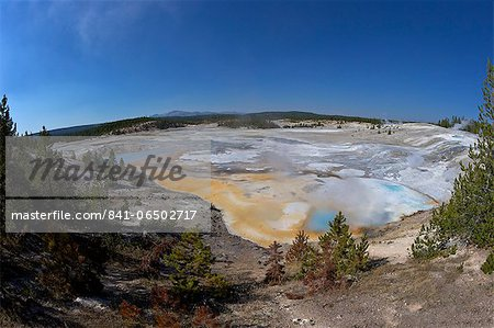 Porcelain Springs, Porcelain Basin, Norris Geyser Basin, Yellowstone National Park, UNESCO World Heritage Site, Wyoming, United States of America, North America Stock Photo - Rights-Managed, Image code: 841-06502717
