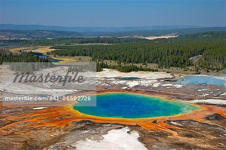 Grand Prismatic Spring, Midway Geyser Basin, Yellowstone National Park, UNESCO World Heritage Site, Wyoming, United States of America, North America Stock Photo - Rights-Managed, Image code: 841-06502726