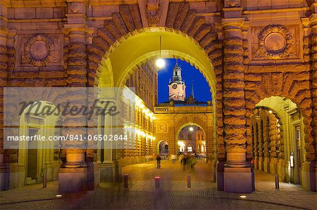 Riksdagshuset at night, Stockholm, Sweden, Scandinavia, Europe Stock Photo - Rights-Managed, Image code: 841-06502844