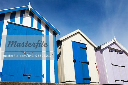 Beach huts at Felixstowe, Suffolk, England, United Kingdom, Europe Stock Photo - Rights-Managed, Image code: 841-06503017