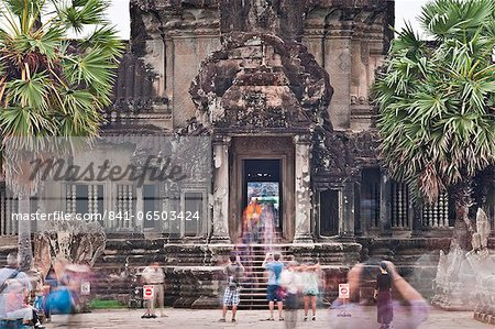 Temple Complex of Angkor Wat, Angkor, UNESCO World Heritage Site, Siem Reap, Cambodia, Indochina, Southeast Asia, Asia Stock Photo - Rights-Managed, Image code: 841-06503424