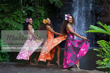Some vahines from the Tahiti Ora troupe, French Polynesia, Pacific Islands, Pacific Stock Photo - Rights-Managed, Image code: 841-06616753