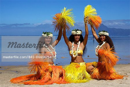Some vahines from the Tahiti ora troupe, French Polynesia, Pacific Islands, Pacific Stock Photo - Rights-Managed, Image code: 841-06616754