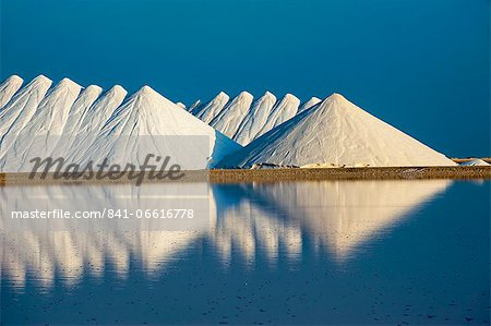 Saline plains, a salt mine in Bonaire, ABC Islands, Netherlands Antilles, Caribbean, Central America Stock Photo - Rights-Managed, Image code: 841-06616778