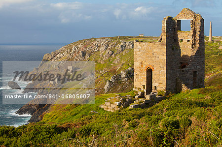 Abandoned Tin Mine near Botallack, UNESCO World Heritage Site, and rocky coast, Cornwall, England, United Kingdom, Europe Stock Photo - Rights-Managed, Image code: 841-06805607
