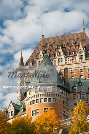 A view of the Chateau Frontenac, Quebec City, Quebec Province, Canada, North America Stock Photo - Rights-Managed, Image code: 841-06805621