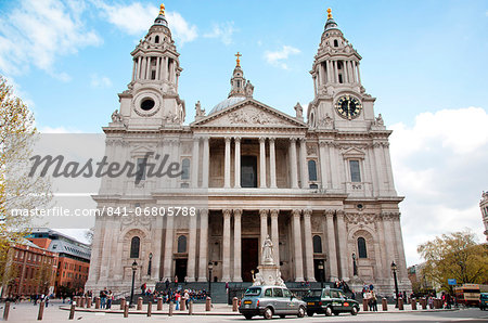 St. Paul's Cathedral entrance, London, England, United Kingdom, Europe Stock Photo - Rights-Managed, Image code: 841-06805788