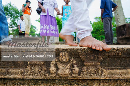 Carved steps detail, Mahasens Palace, Anuradhapura, UNESCO World Heritage Site, Sri Lanka, Asia Stock Photo - Rights-Managed, Image code: 841-06806003
