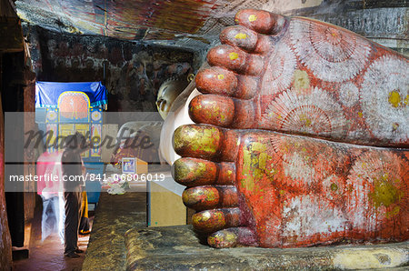 Buddha statues in Cave 1, Cave Temples, UNESCO World Heritage Site, Dambulla, North Central Province, Sri Lanka, Asia Stock Photo - Rights-Managed, Image code: 841-06806019