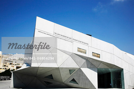 The new wing of Tel Aviv Museum of Arts, Israel, Middle East Stock Photo - Rights-Managed, Image code: 841-06806294