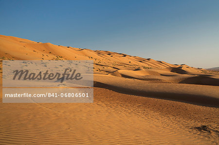 Wahiba Sand Dunes, Oman, Middle East Stock Photo - Rights-Managed, Image code: 841-06806501