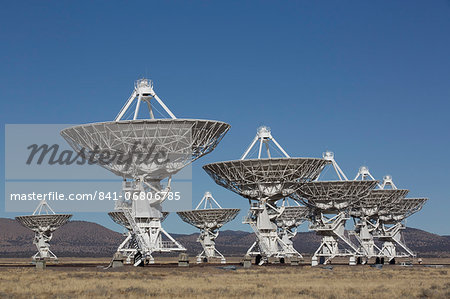 The Very Large Array, New Mexico, United States of America, North America Stock Photo - Rights-Managed, Image code: 841-06806785