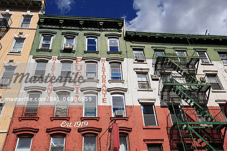 Restaurant, Little Italy, Manhattan, New York City, United States of America, North America Stock Photo - Rights-Managed, Image code: 841-06806959