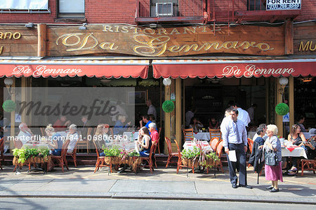 Restaurant, Little Italy, Manhattan, New York City, United States of America, North America Stock Photo - Rights-Managed, Image code: 841-06806960