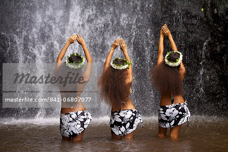 Some vahines from Tahiti Ora in Tahiti, Society Islands, French Polynesia, Pacific Islands, Pacific Stock Photo - Rights-Managed, Image code: 841-06807077