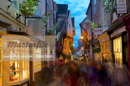 The Shambles at Christmas, York, Yorkshire, England, United Kingdom, Europe Stock Photo - Rights-Managed, Image code: 841-06807698