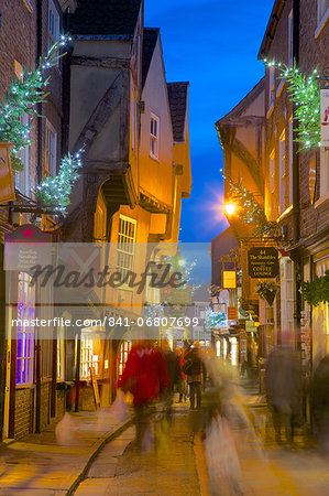 The Shambles at Christmas, York, Yorkshire, England, United Kingdom, Europe Stock Photo - Rights-Managed, Image code: 841-06807699