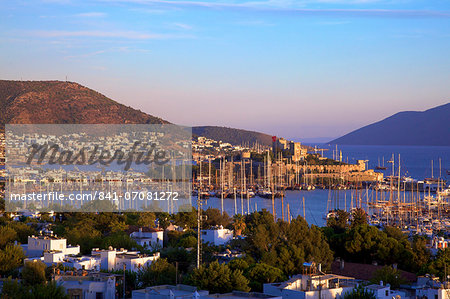 Bodrum Harbour and The Castle of St. Peter, Bodrum, Bodrum Peninsula, Anatolia, Turkey, Asia Minor, Eurasia Stock Photo - Rights-Managed, Image code: 841-07081272