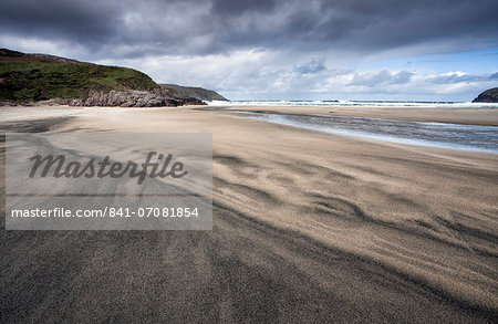Dalbeg Beach with intricate patterns in the sand, near Carloway, Isle of Lewis, Outer Hebrides, Scotland, United Kingdom, Europe Stock Photo - Rights-Managed, Image code: 841-07081854