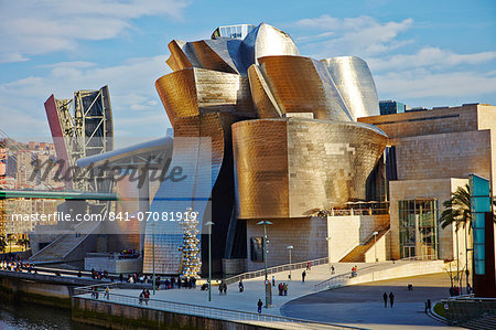 Guggenheim Museum, Bilbao, Euskadi, Spain, Europe Stock Photo - Rights-Managed, Image code: 841-07081919