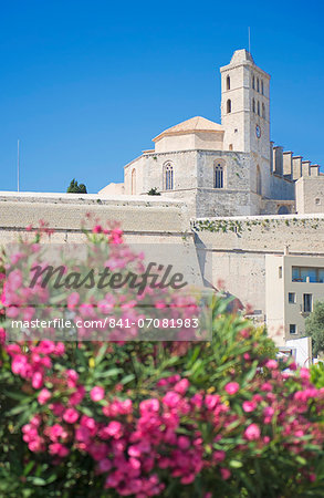 Ibiza Cathedral, Old Town (Dalt Vila), UNESCO World Heritage Site, Ibiza, Balearic Islands, Spain, Europe Stock Photo - Rights-Managed, Image code: 841-07081983