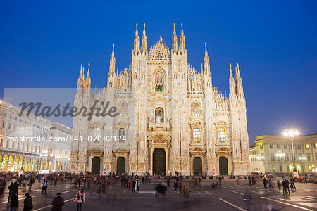 Duomo (Milan Cathedral), Milan, Lombardy, Italy, Europe Stock Photo - Rights-Managed, Image code: 841-07082124