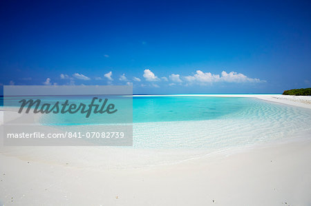 Tropical island and lagoon, Maldives, Indian Ocean, Asia Stock Photo - Rights-Managed, Image code: 841-07082739