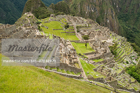 Machu Picchu, UNESCO World Heritage Site, near Aguas Calientes, Peru, South America Stock Photo - Rights-Managed, Image code: 841-07082879