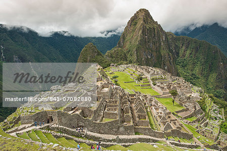 Machu Picchu, UNESCO World Heritage Site, near Aguas Calientes, Peru, South America Stock Photo - Rights-Managed, Image code: 841-07082880