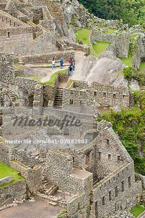 Machu Picchu, UNESCO World Heritage Site, near Aguas Calientes, Peru, South America Stock Photo - Rights-Managed, Image code: 841-07082883