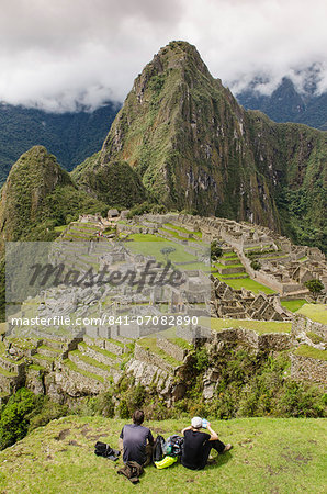 Machu Picchu, UNESCO World Heritage Site, near Aguas Calientes, Peru, South America Stock Photo - Rights-Managed, Image code: 841-07082890
