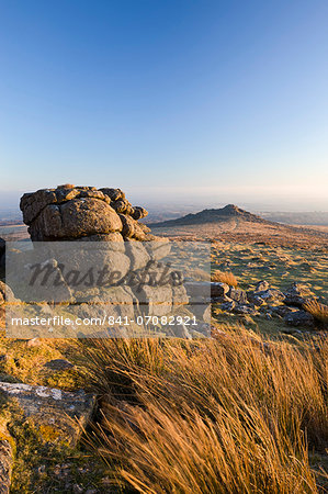 Belstone Tor and moorland, Dartmoor National Park, Devon, England, United Kingdom, Europe Stock Photo - Rights-Managed, Image code: 841-07082921