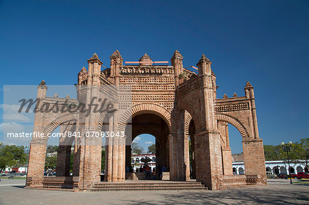 La Pila (the fountain), built in 1562, Chiapa de Corzo, Chiapas, Mexico, North America Stock Photo - Rights-Managed, Image code: 841-07083043