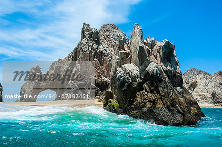 Lands End rock formation, Los Cabos, Baja California, Mexico, North America Stock Photo - Rights-Managed, Image code: 841-07083451