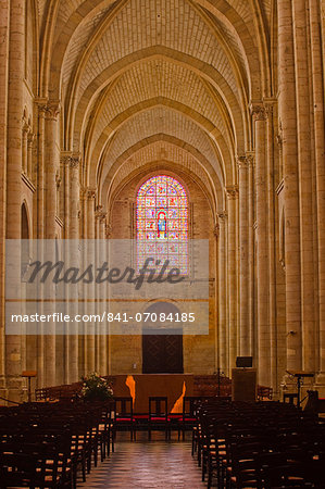 The nave of St.-Julien du Mans Cathedral, Le Mans, Sarthe, Pays de la Loire, France, Europe Stock Photo - Rights-Managed, Image code: 841-07084185