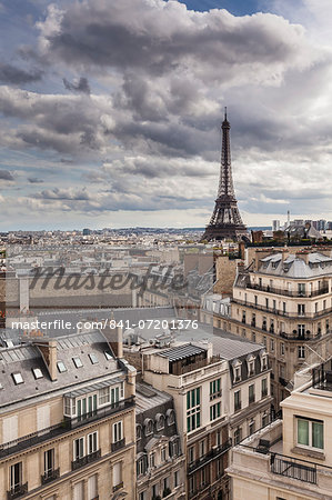 Eiffel Tower, Paris, France, Europe Stock Photo - Rights-Managed, Image code: 841-07201376