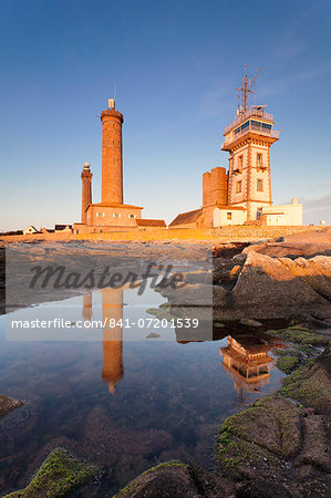 The Lighthouse of Phare d'Eckmuhl, Penmarc'h, Finistere, Brittany, France, Europe Stock Photo - Rights-Managed, Image code: 841-07201539