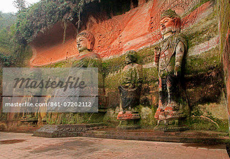 Oriental Buddha Park, Leshan, Lingyun Shan Mountain, Sichuan, China, Asia Stock Photo - Rights-Managed, Image code: 841-07202112