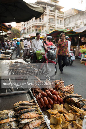 Seafood at Food Market, Phnom Penh, Cambodia, Indochina, Southeast Asia, Asia Stock Photo - Rights-Managed, Image code: 841-07202617